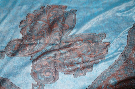 A silk scarf that I got. Explains why I am broke by now. I really should work on my bargaining skills.